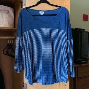 Old Navy Blue Striped Tee